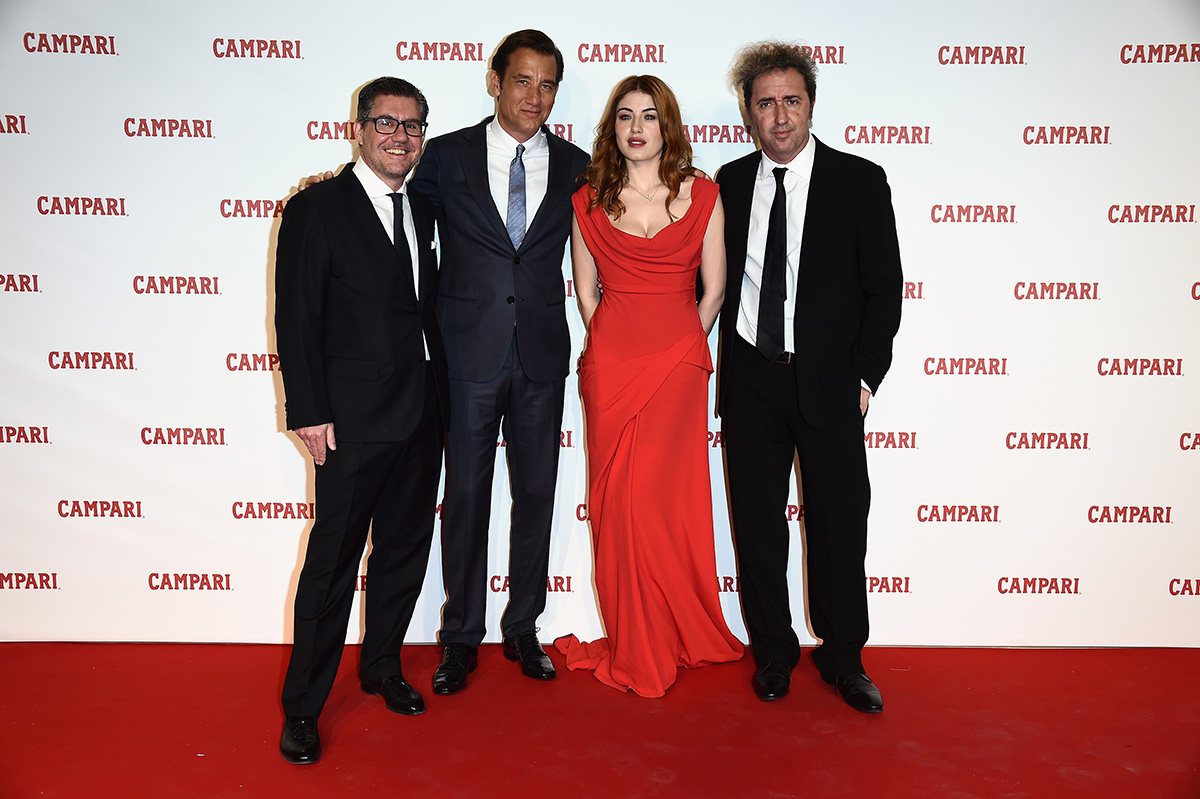 walks the red carpet for 'Campari Red Diaries - Killer In Red' on January 24, 2017 in Rome, Italy.