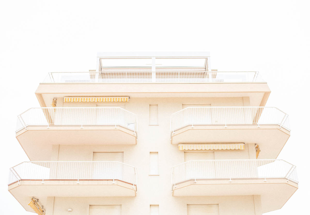 jesolo beach travel italy architecture hotel 70s holidays