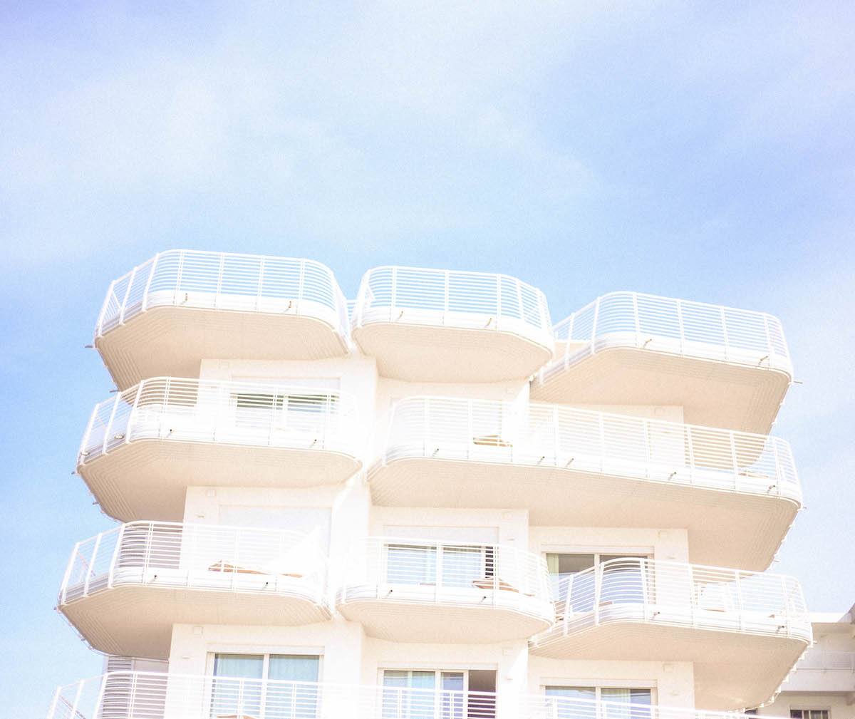 jesolo beach travel italy architecture hotel 70s veneto