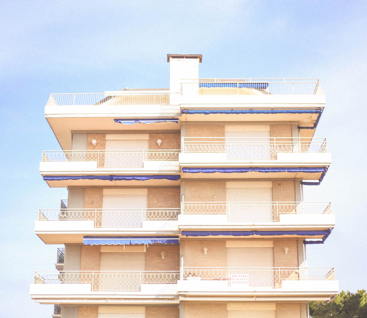 jesolo beach travel italy architecture hotel 70s.photo