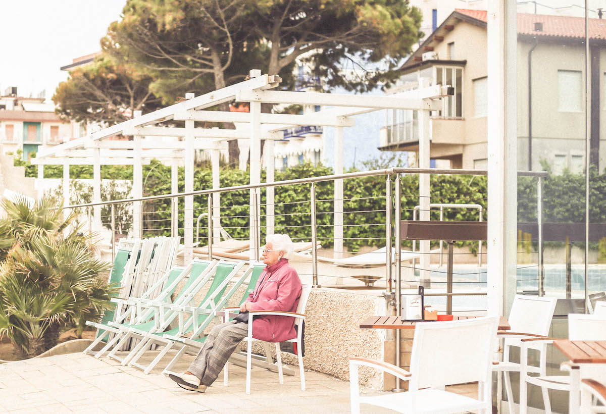 jesolo beach travel italy old people
